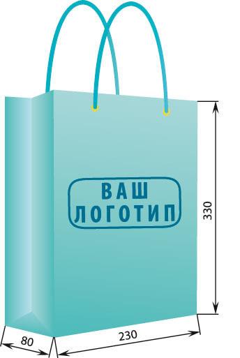 Бумажный пакет вертикальный