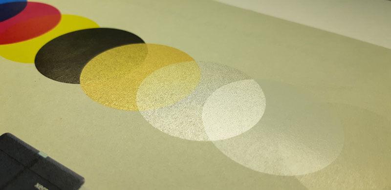Цифровая печать серебром золотом белым прозрачным